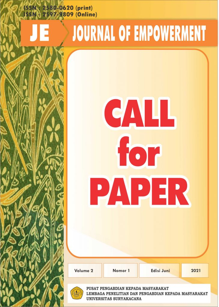 CALL FOR PAPER JE (JOURNAL OF EMPOWERMENT)
